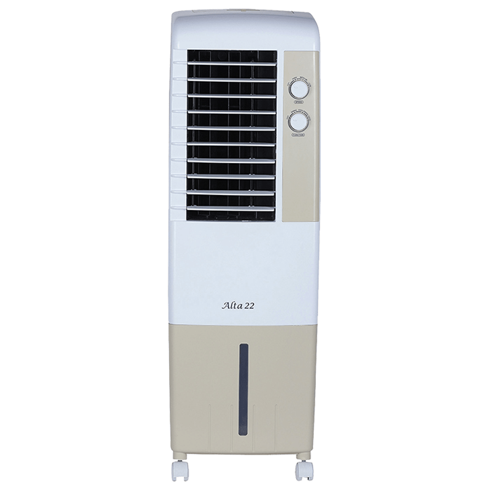Kenstar Alta 22 Litres Tower Air Cooler (Inverter Compatible, KCLALTGY022BMH-ELM, Golden Yellow)
