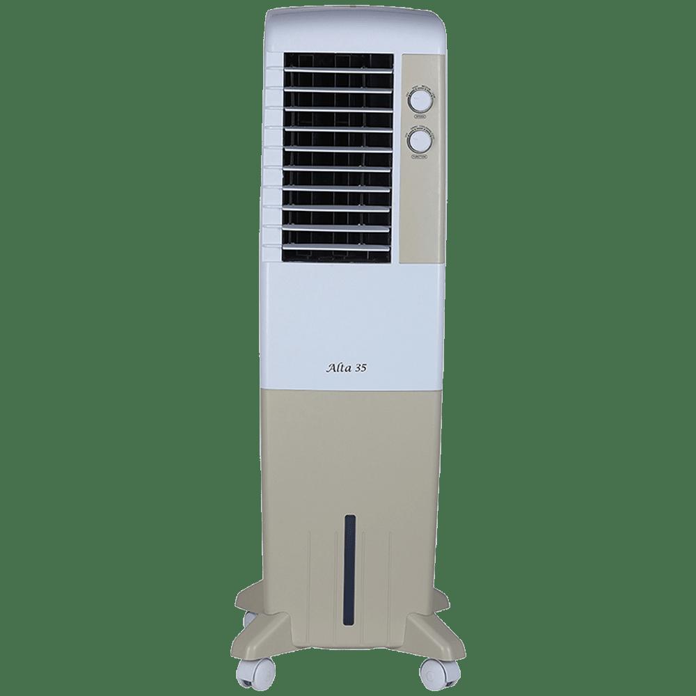 Kenstar Alta 35 Litres Tower Air Cooler (Inverter Compatible, KCLALTGY035BMH-ELM, Golden Yellow)