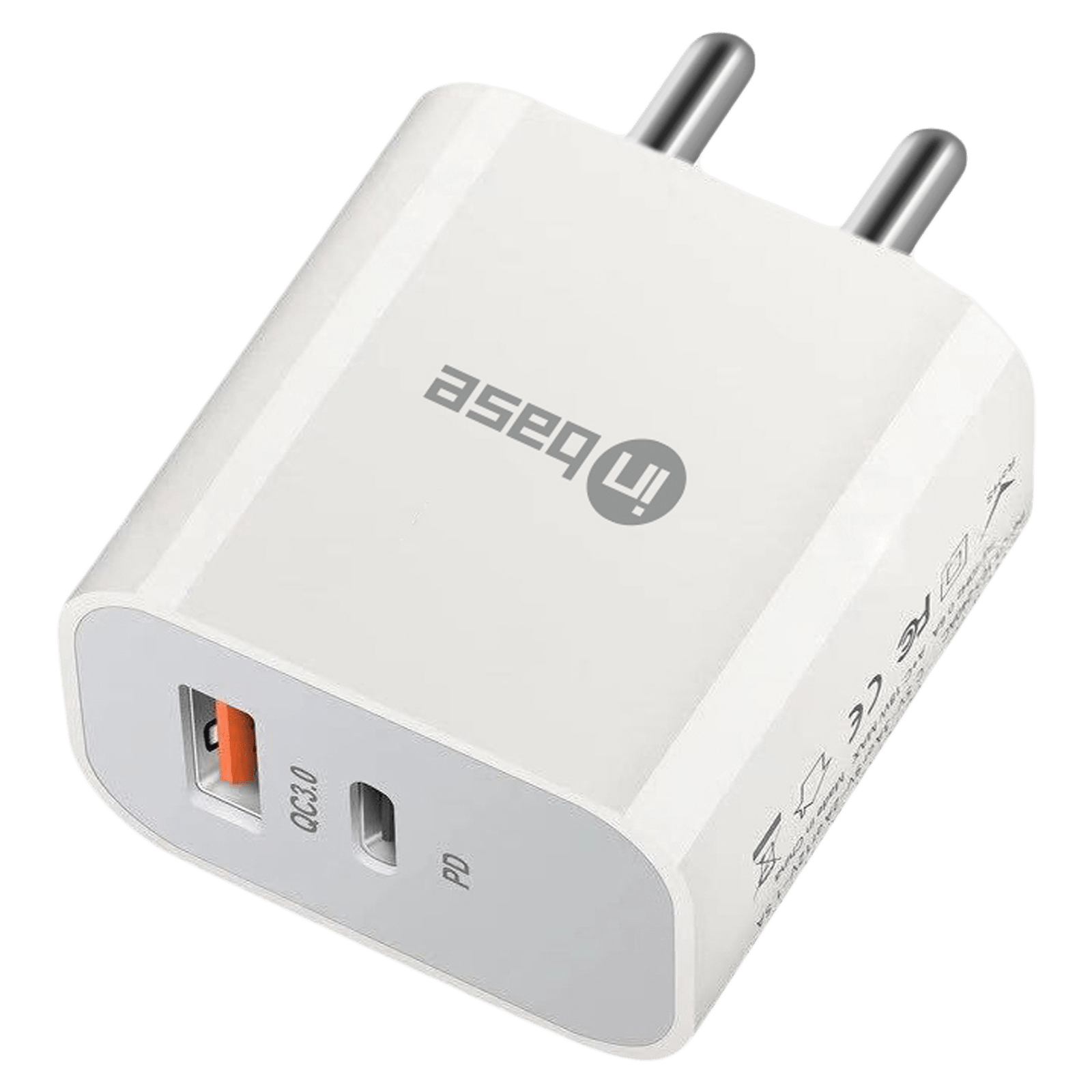 Inbase 20 Watts 2-Port USB Type-C and Power Delivery Wall Charging Adapter (Fast Charging Capability, IB-919, White)