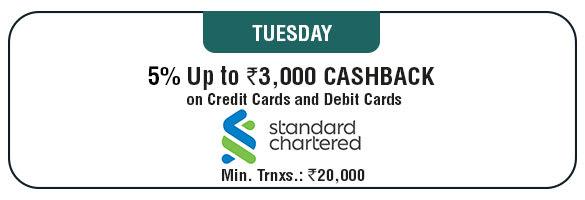 Tuesday Cashback Offer