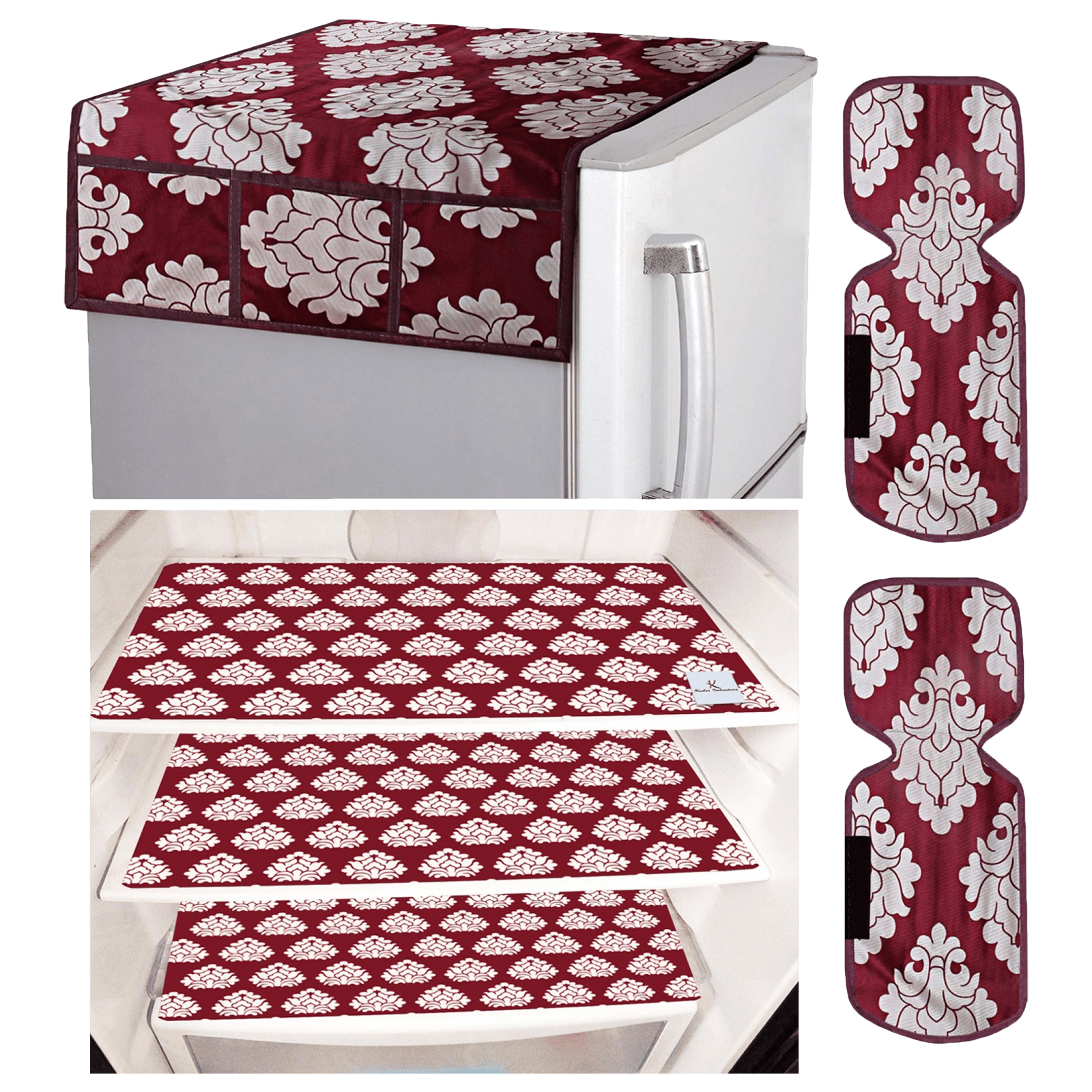 Kuber Industries Mat For Refrigerator (Easily Hand Washable, CTKTC033659, Maroon)