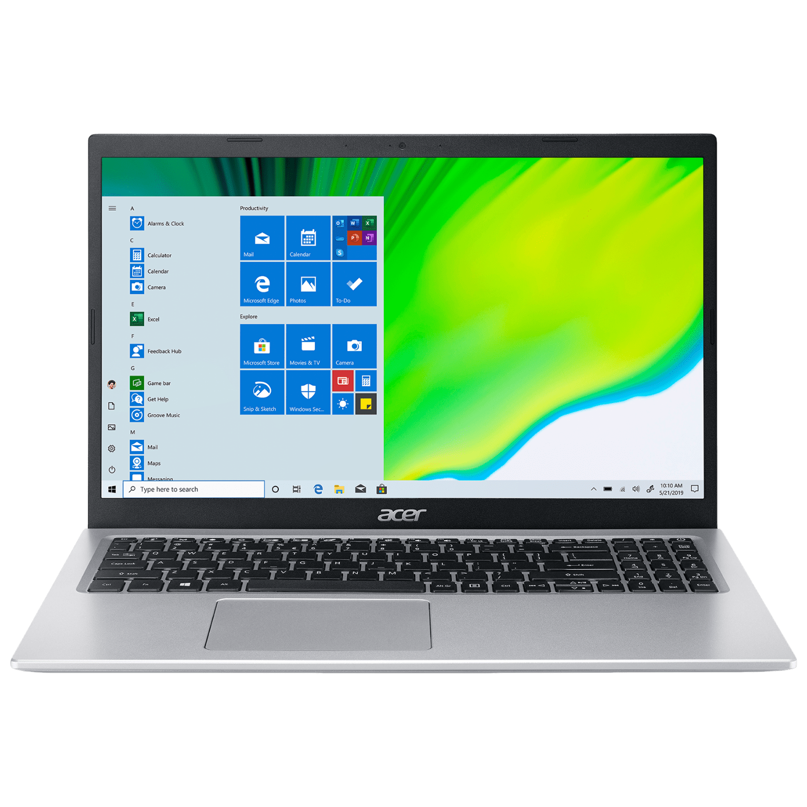 Acer Aspire 5 A515-56 (UN.A1GSI.004) Core i3 11th Gen Windows 10 Home Thin and Light Laptop (4GB RAM, 1TB HDD, Intel UHD Graphics, MS Office, 39.62cm, Silver)