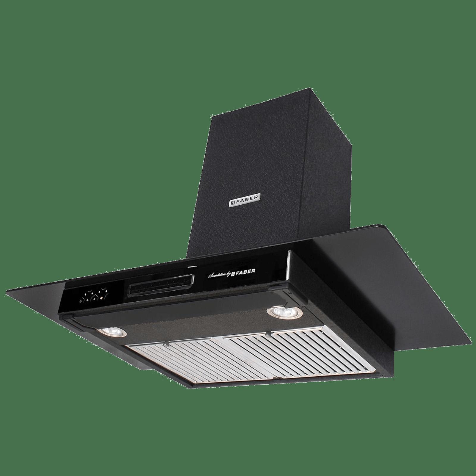Faber 3N1 Aerost. Star Pro 3D AB TC 1095 m³/hr 90cm Wall Mount Chimney (3 Layer Baffle Filters, 325.0605.949, Alligator Black)