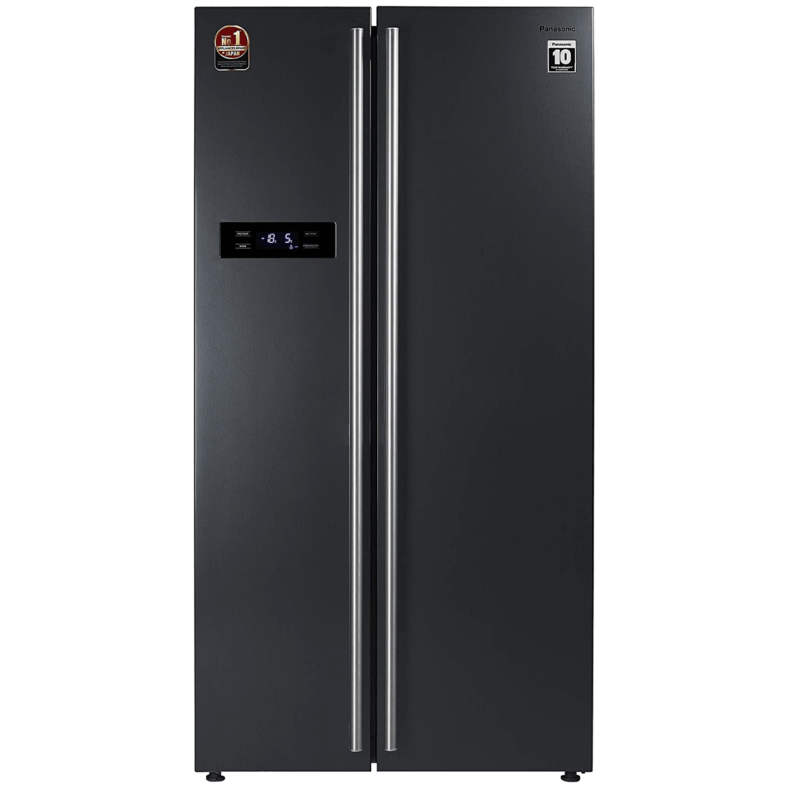 Panasonic 584 Litres Frost Free Inverter Side-by-Side Refrigerator (Quick Freeze Mode, NR-BS60VKX1, Dark Grey Steel)