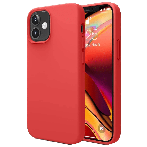 Vaku Luxos Mag-Pro Liquid Silicon, Microfiber Back Case For iPhone 12 and iPhone 12 Pro (Precise Cutouts, VAKU-IPH12P-MSWSIL, Red)