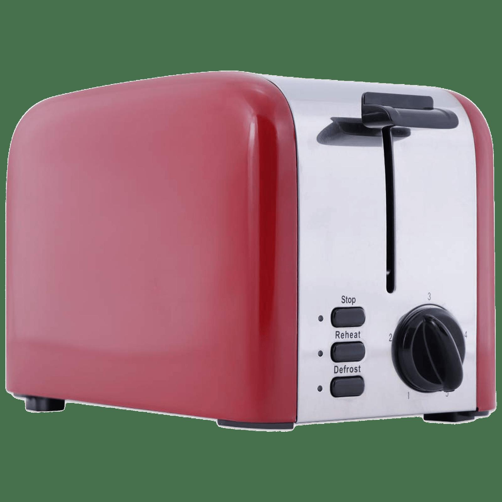 Wonderchef Crimson Edge 850 Watts 2 Slice Automatic Pop-up Toaster (Reheat Function, 63153584, Red)