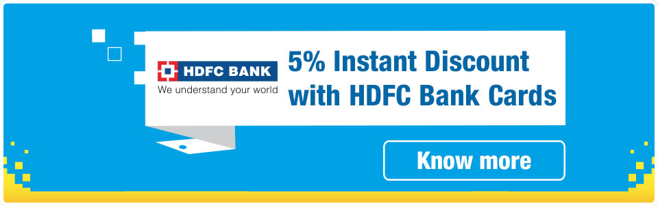 5% Instant Discount with HDFC Cards
