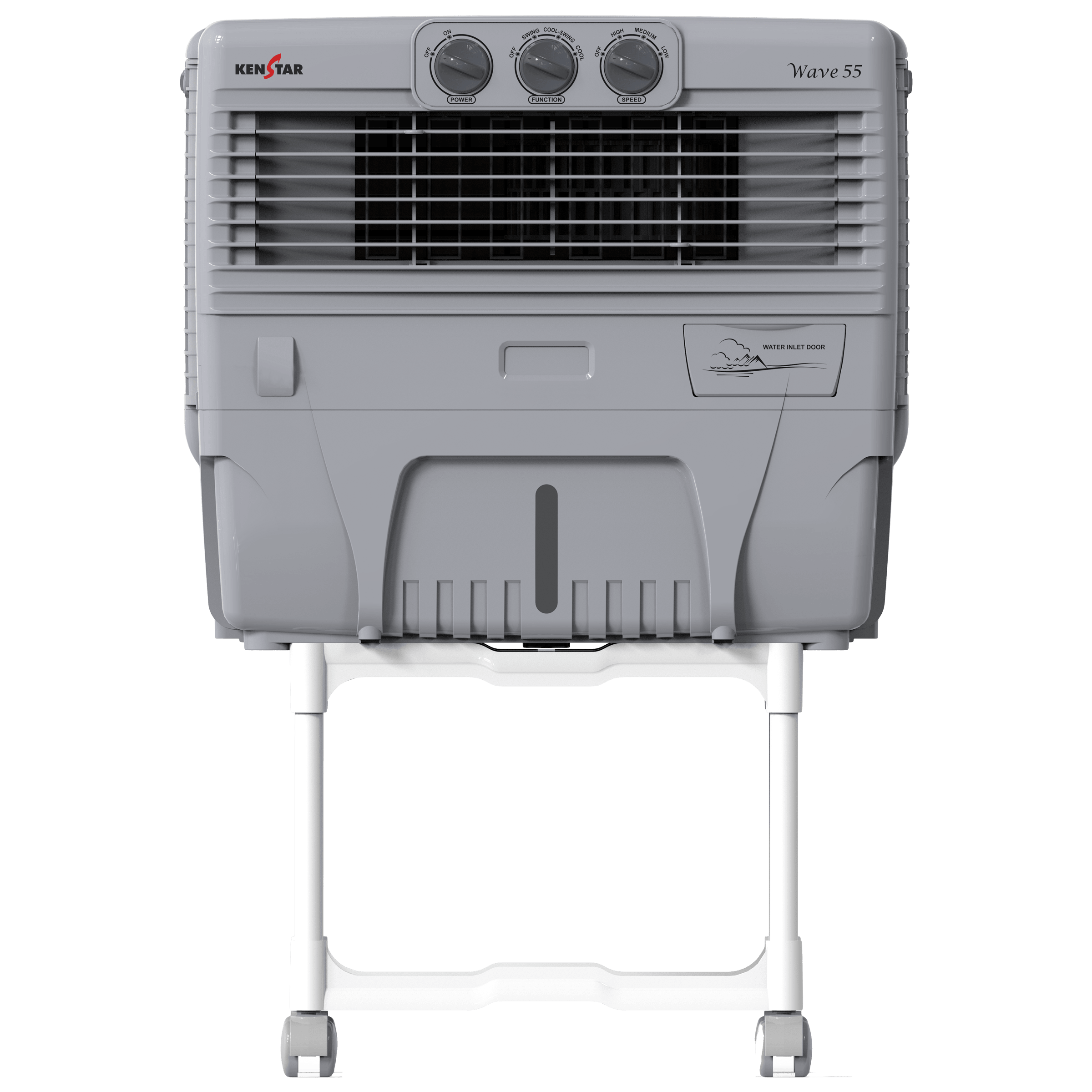 Kenstar Wave55 50 Litres Personal Air Cooler (Inverter Compatible, KCLWAVGY056BMW-EGM, White)