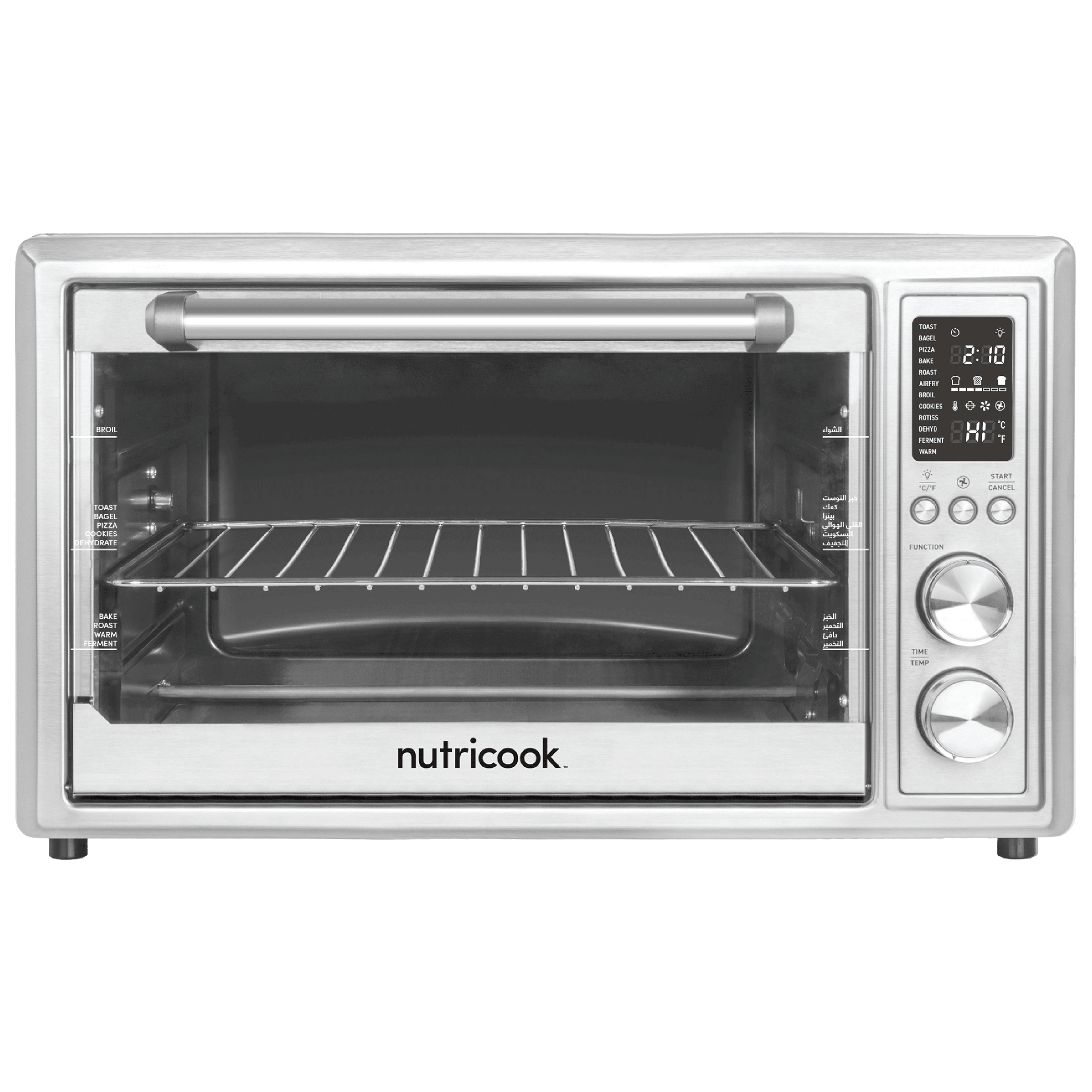 Nutricook by Nutribullet 30 Litres Convection Oven (Smart Air Fryer, SAFO30, Silver)