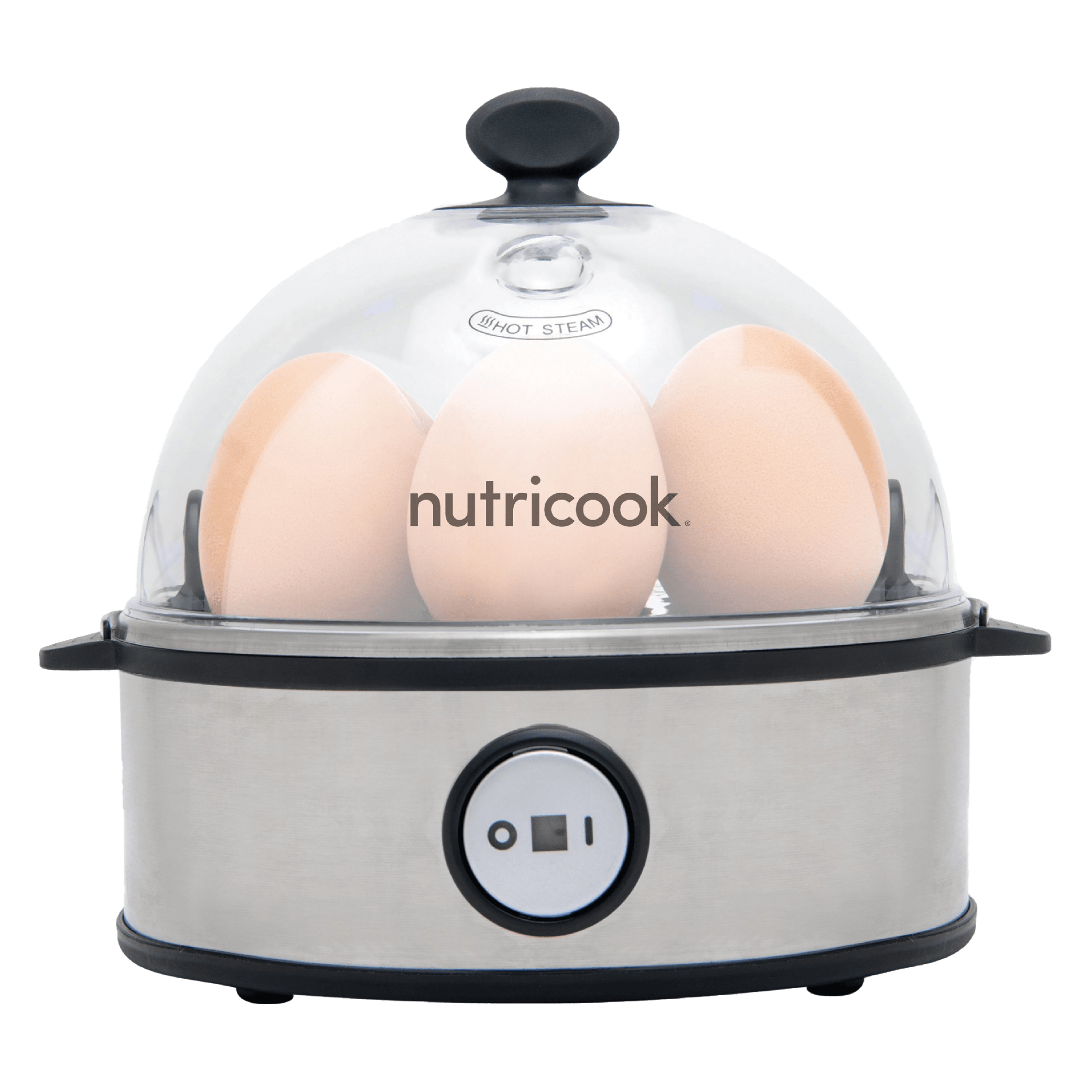 Nutricook by Nutribullet Rapid 7 Eggs Electricity Egg Boiler (NC-EC360, Silver)