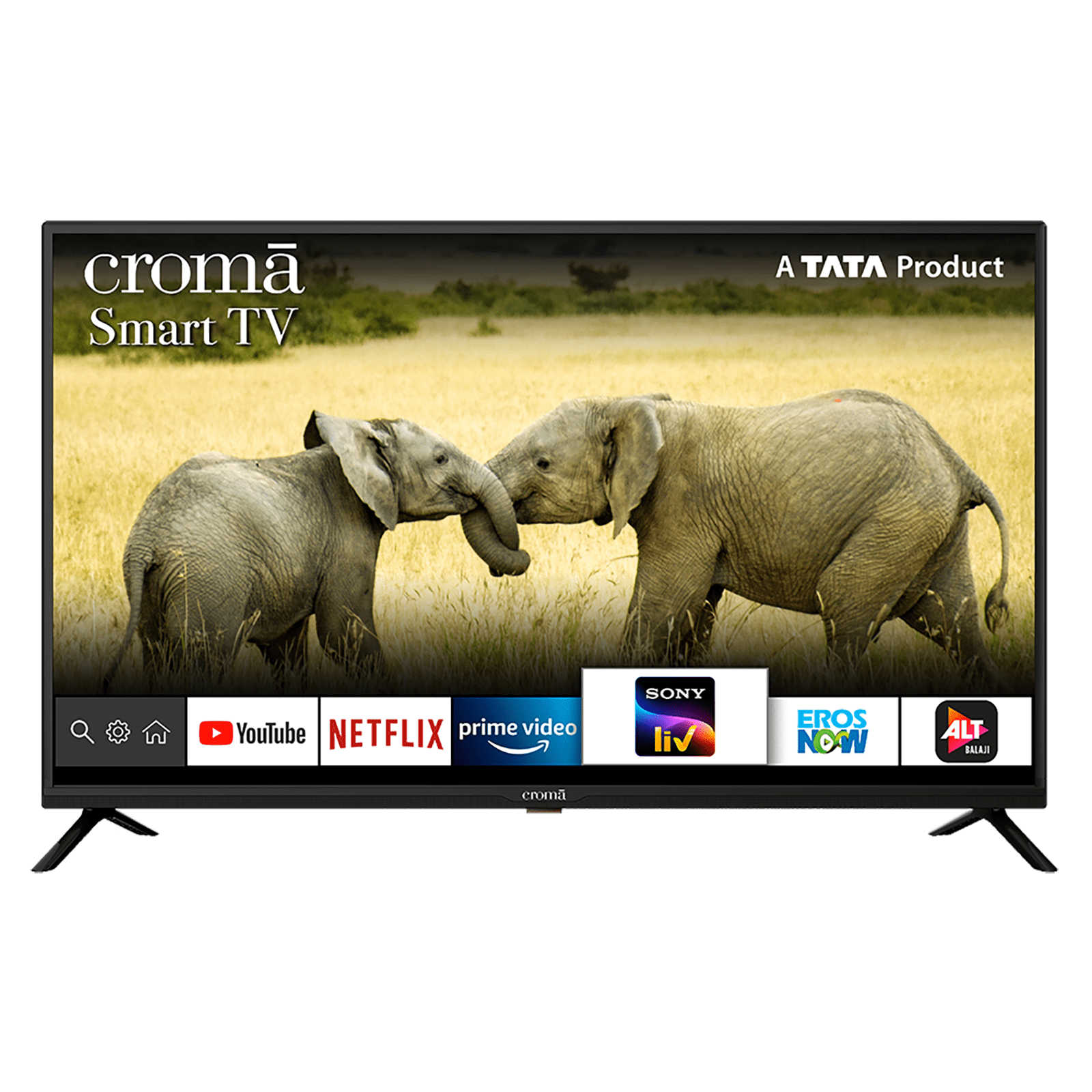 Croma 109cm (43 Inch) Full HD LED Android Smart TV (3 Years Warranty, Screen Mirroring, CREL7371, Black)