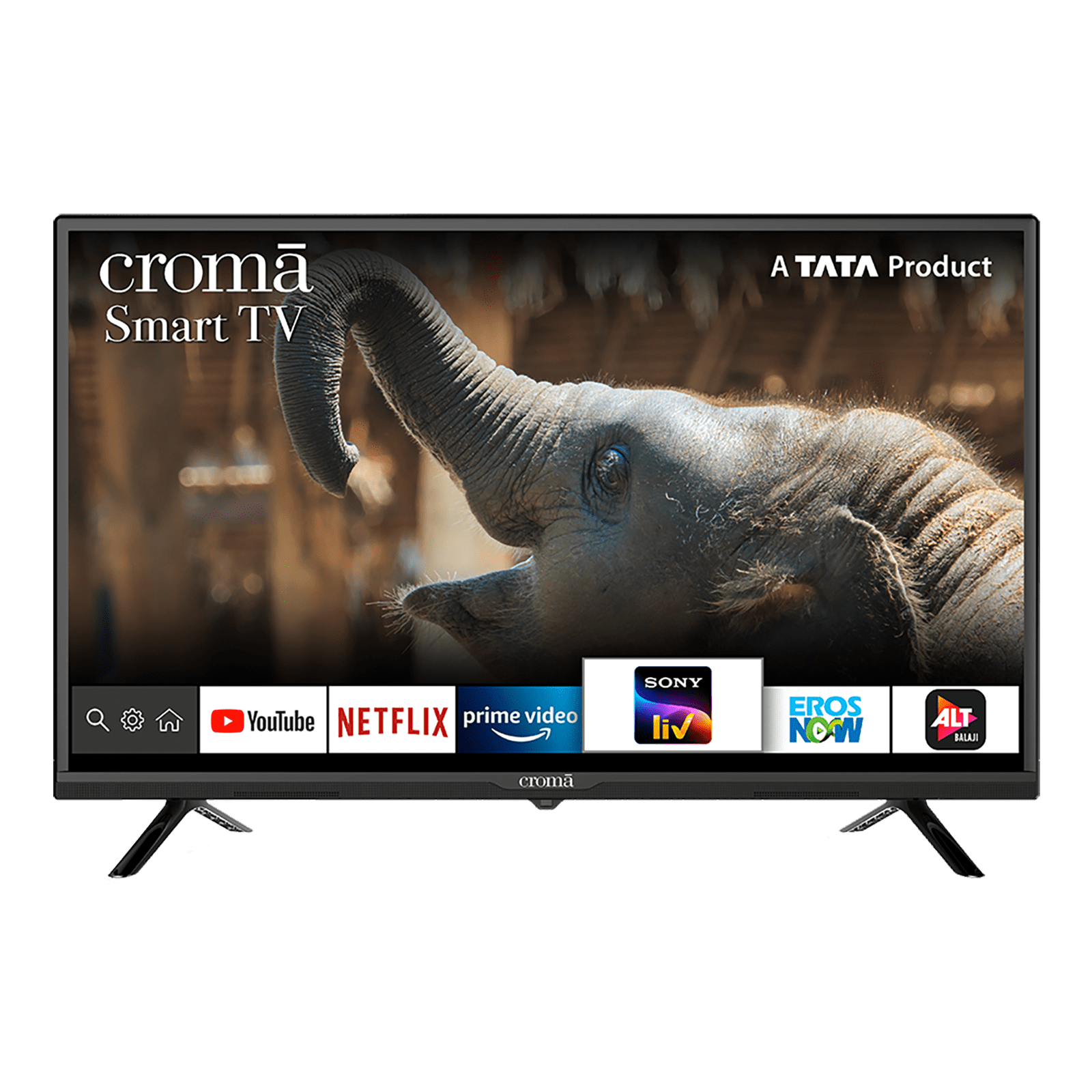 Croma 80cm (32 Inch) HD Ready LED Android Smart TV (3 Years Warranty, Screen Mirroring, CREL7370, Black)