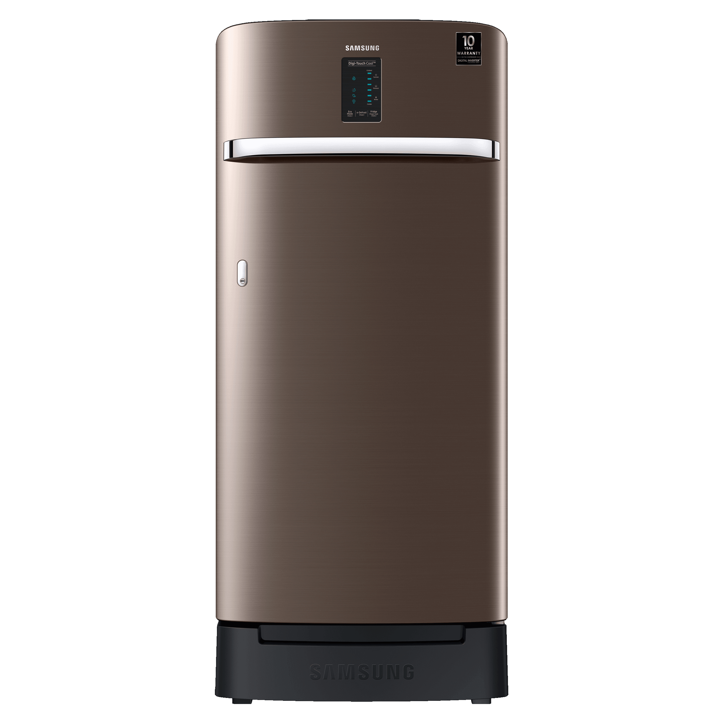 Samsung 198 Litres 3 Star Direct Cool Inverter Single Door Refrigerator (Stabilizer Free Operation, RR21A2F2YDX/HL, Luxe Brown)