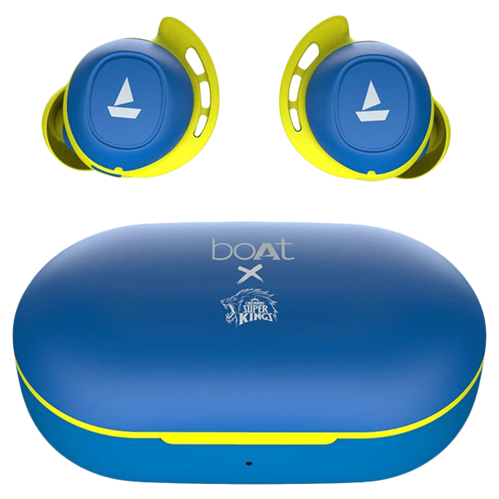 boAt Airdopes 441 CSK Edition In-Ear Truly Wireless Earbuds with Mic (Bluetooth 5.0, Voice Assistant Support, Blue)