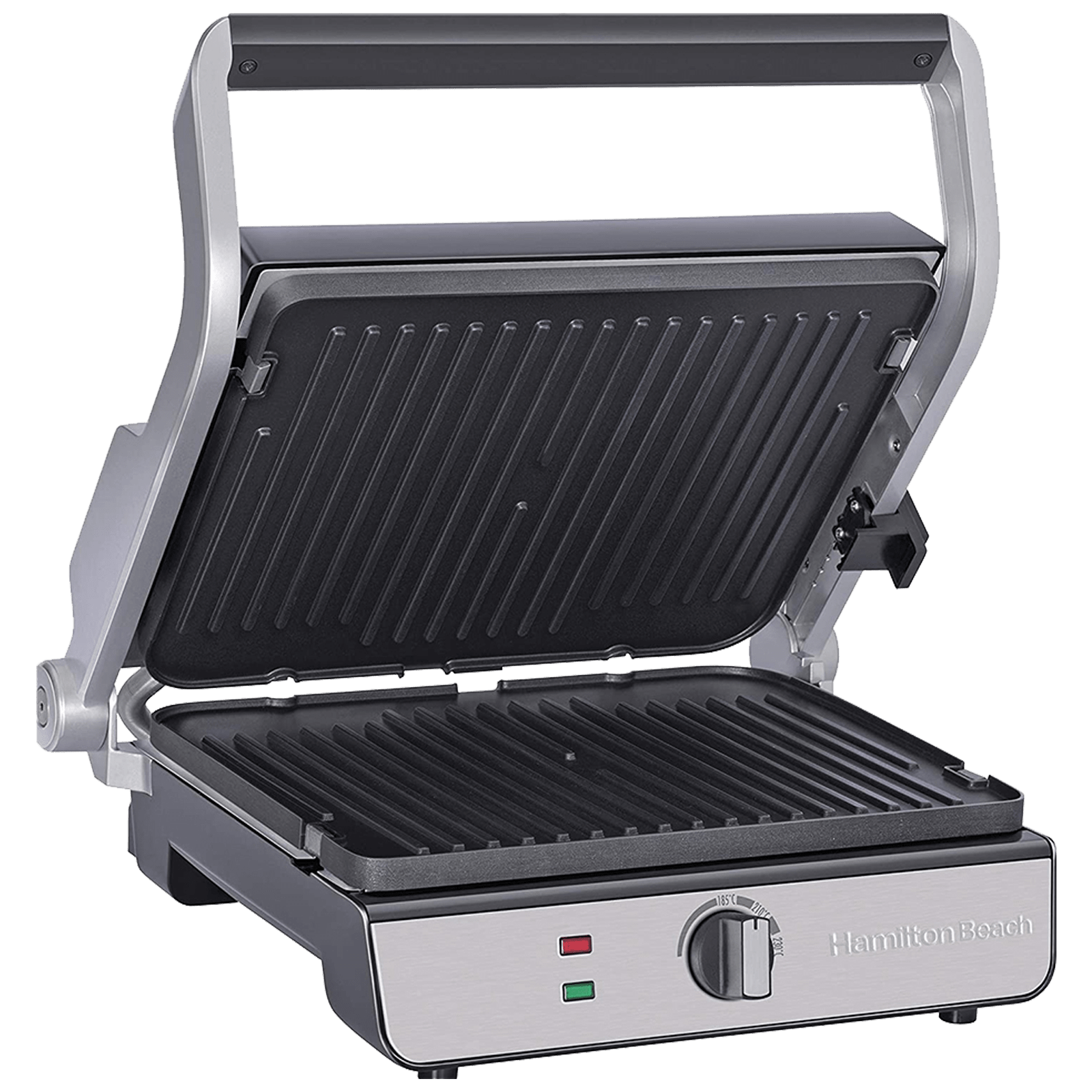 Hamilton Beach 1740 Watts 4 Slices Automatic Grilling Waffle Making Griller (25341-SAU, Silver)