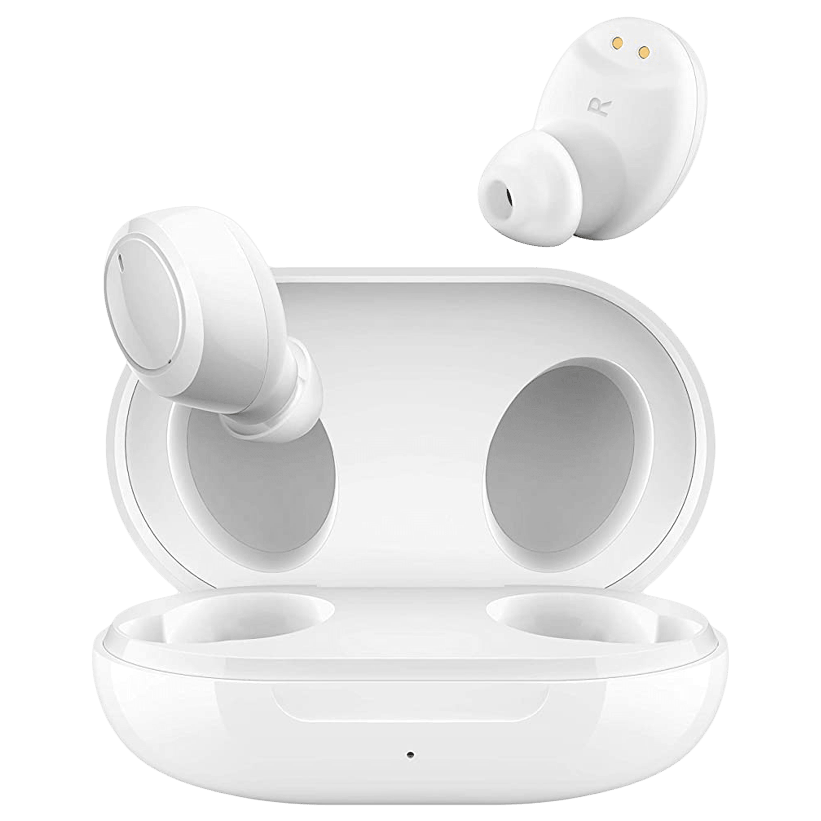Oppo Enco W11 In-Ear Active Noise Cancellation Truly Wireless Earbuds with Mic (Bluetooth 5.0, Dust and Water Resistance, ETI41, White)