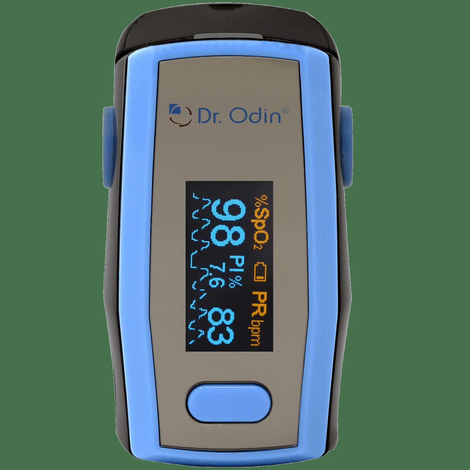 Dr. Odin OLED Pulse Monitor/Oximeter (Alarm Function, A-330N, Blue/Black)