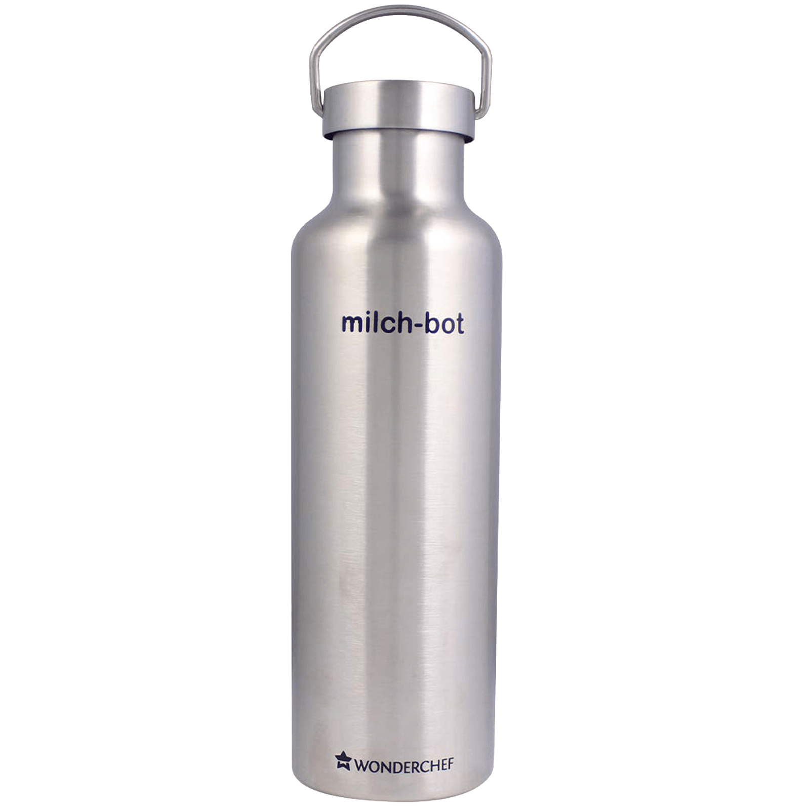 Wonderchef Milch-Bot 0.75 Litres Stainless Steel Water Bottle (Vacuum Insulated, 63153234, Silver)