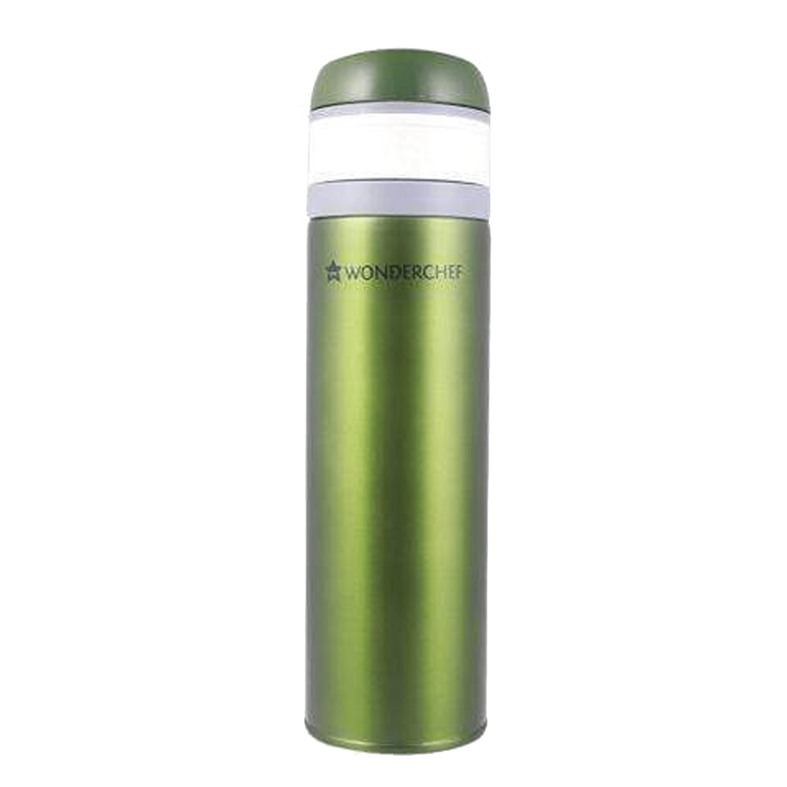 Wonderchef Uni-Bot 0.5 Litres Stainless Steel Water Bottle (Vacuum Insulation, 63152878, Olive Green)