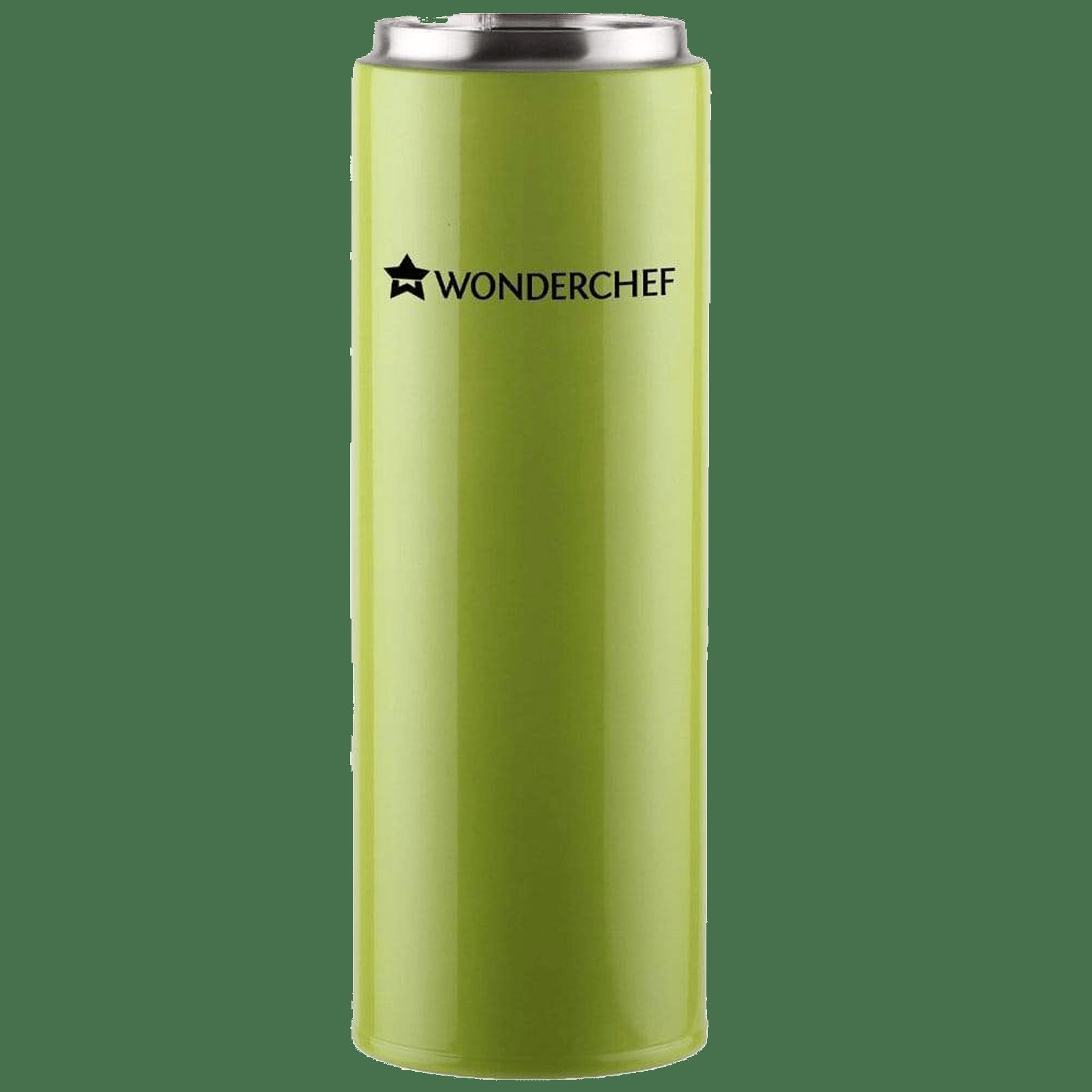 Wonderchef Uni-Bot 0.5 Litres Stainless Steel Water Bottle (Vacuum Insulation, 63152741, Apple Green)