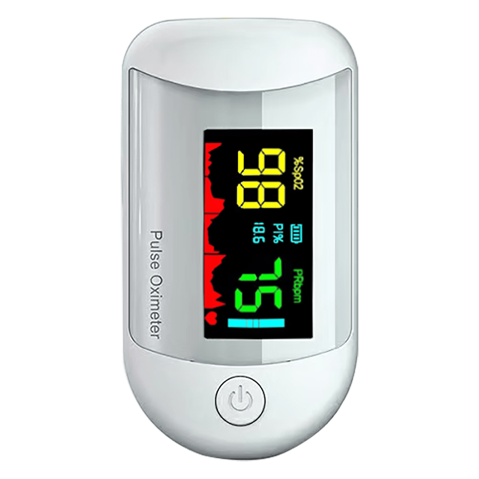 iGear Pulse Monitor/Oximeter (Perfusion Index of 0.3%, iG-A3, White)