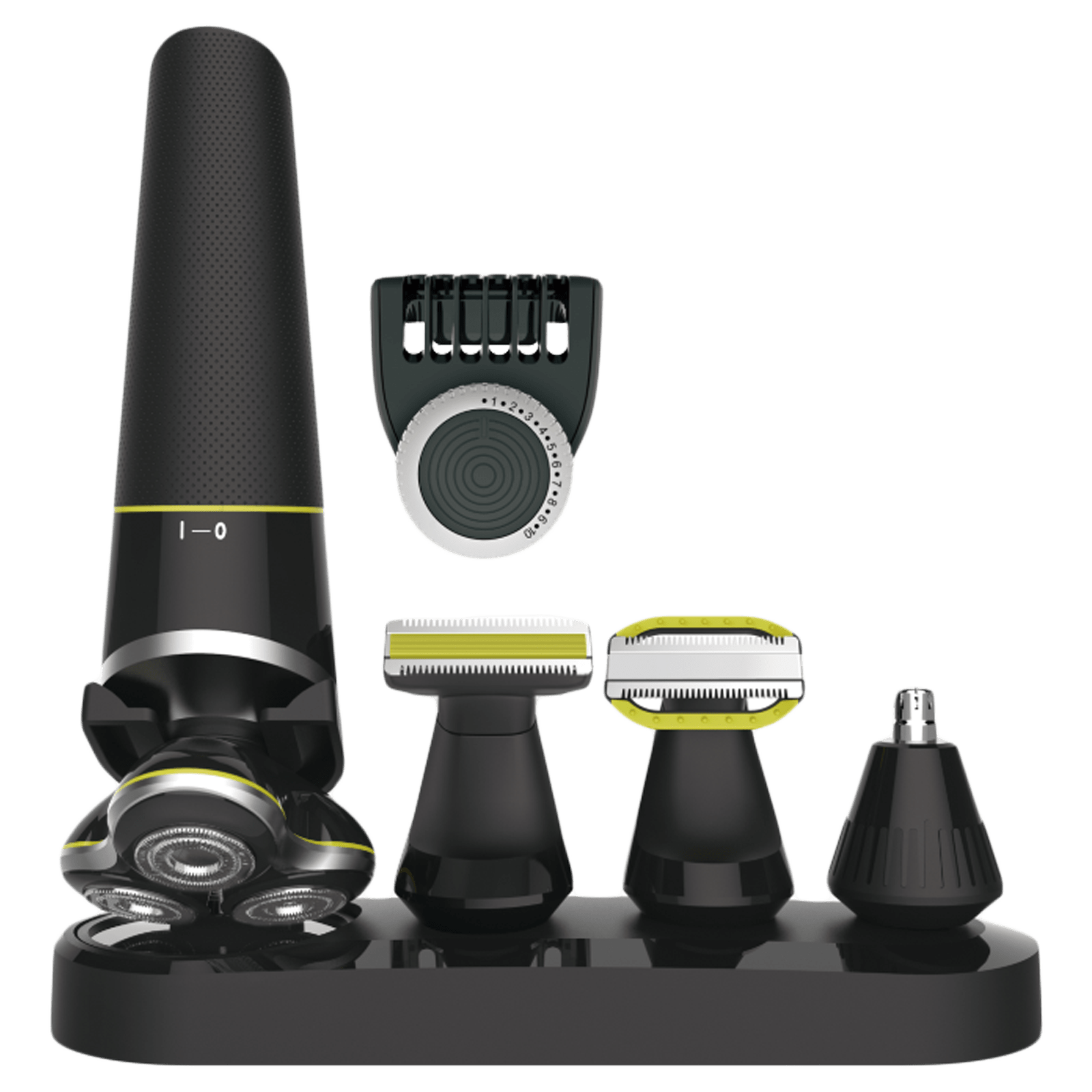 Swiss Military Stainless Steel Blades Cordless 5-in-1 Body Grooming Kit (Fast Charging Capability, SMSHCG201sGS51, Black)
