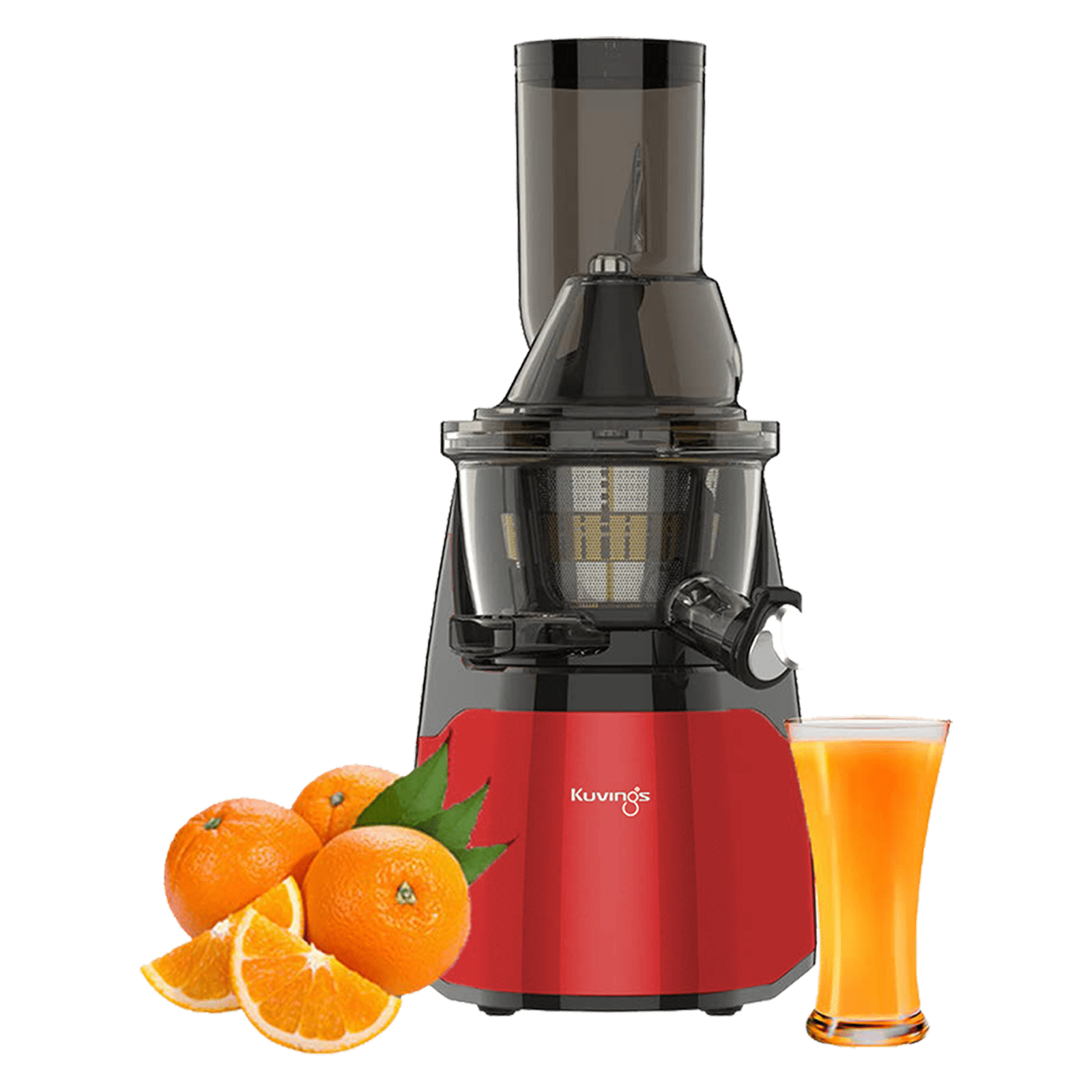 Kuvings 240 Watts 1 Blade Cold Press Slow Juicer (Safety-Lock System, EVO700, Red)