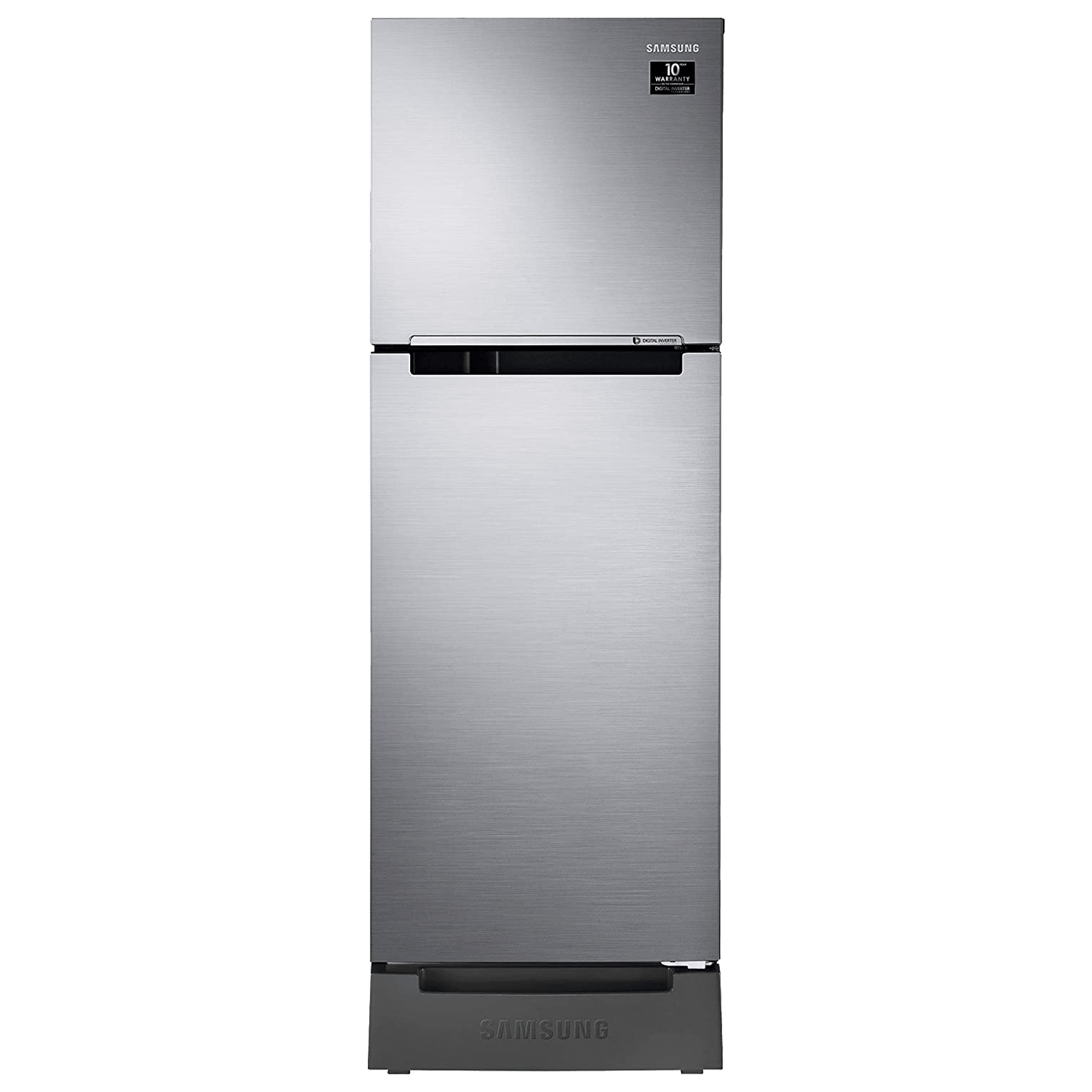 Samsung 253 Litres 2 Star Frost Free Digital Inverter Double Door Refrigerator (Base Stand Drawer, RT28T3122S9/HL, Refined Inox)