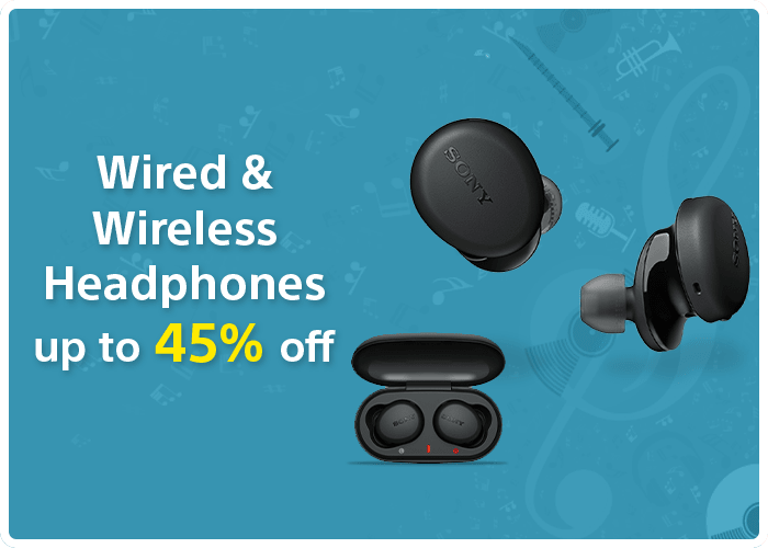 Wired and Wireless Headphones