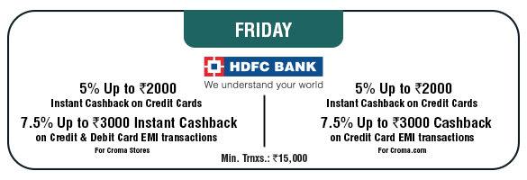 Friday Cashback Offer