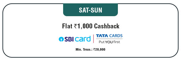 Saturday - Sunday Cashback Offer