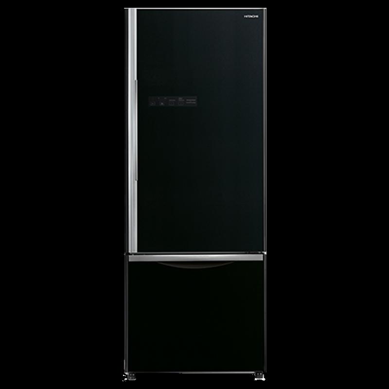 Hitachi 525 Litres 2 Star Frost Free Inverter Double Door Refrigerator (Bottom Mount, Smart-Open Vege Compartment, R-B570PND7, Glass Black)_1