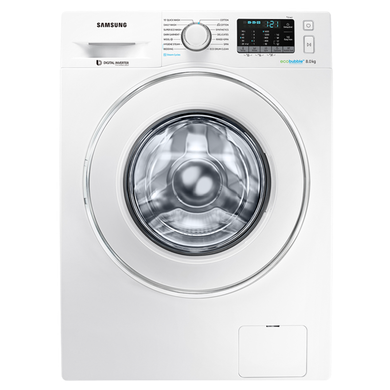 Samsung 8 kg Fully Automatic Front Loading Washing Machine (WW80J54E0IW/TL, White)_1