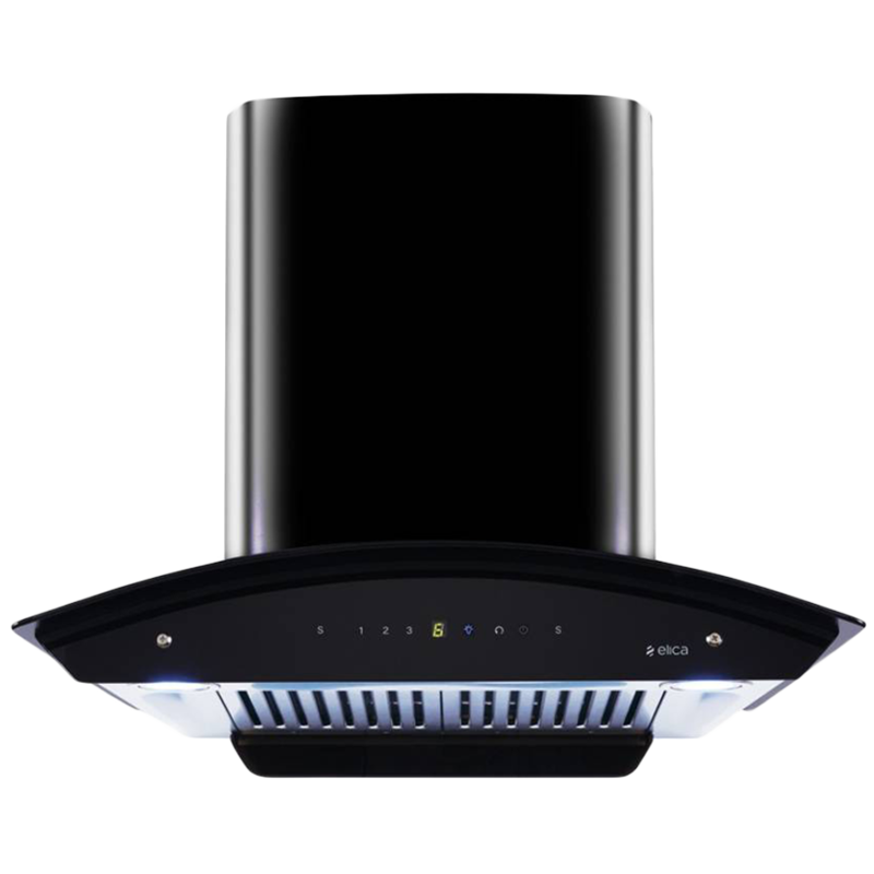 Elica 1200 m³/hr 60cm Wall Mount Chimney (Touch Control, WD HAC Touch BF 60, Black)_1