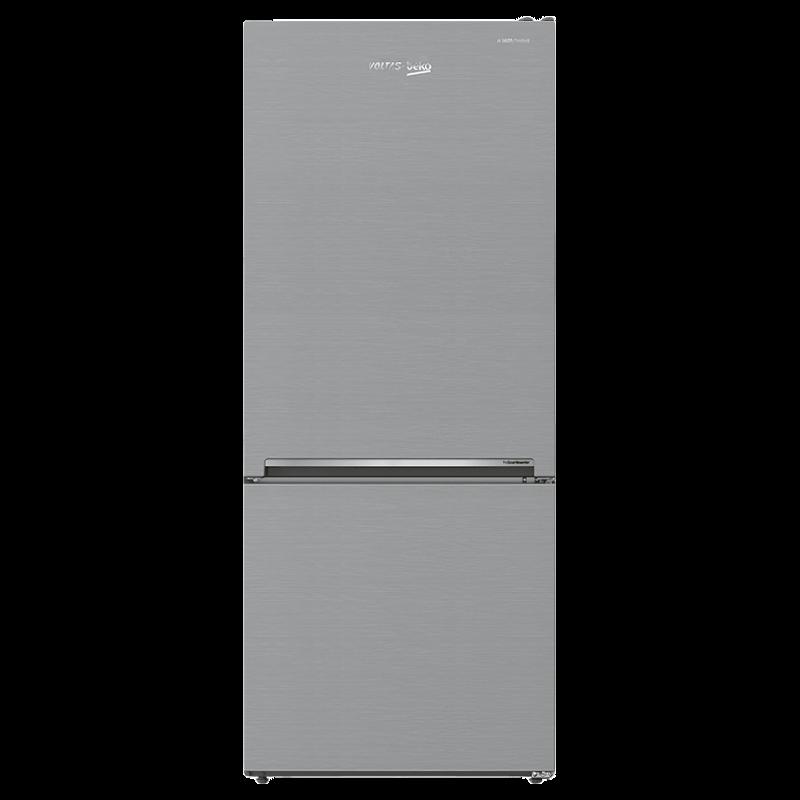 Voltas Beko 415 Litres 3 Star Frost Free Double Door Inverter Bottom Mounted Refrigerator (RBM433IF, Silver)_1