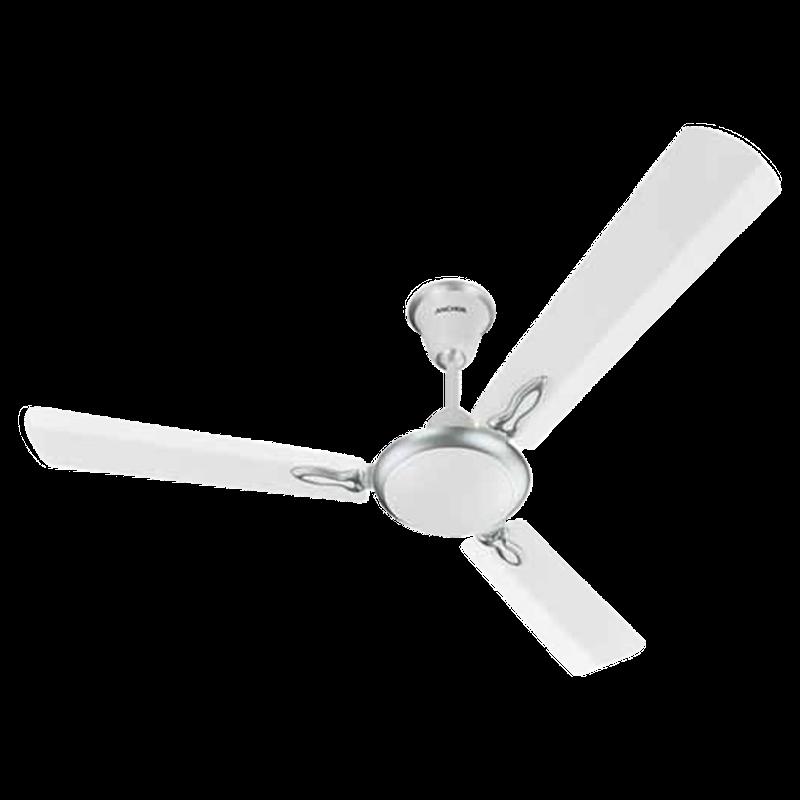 Anchor XL 120cm Sweep 3 Blade Ceiling Fan (Powerful Motor, 13401MWH, White)_1