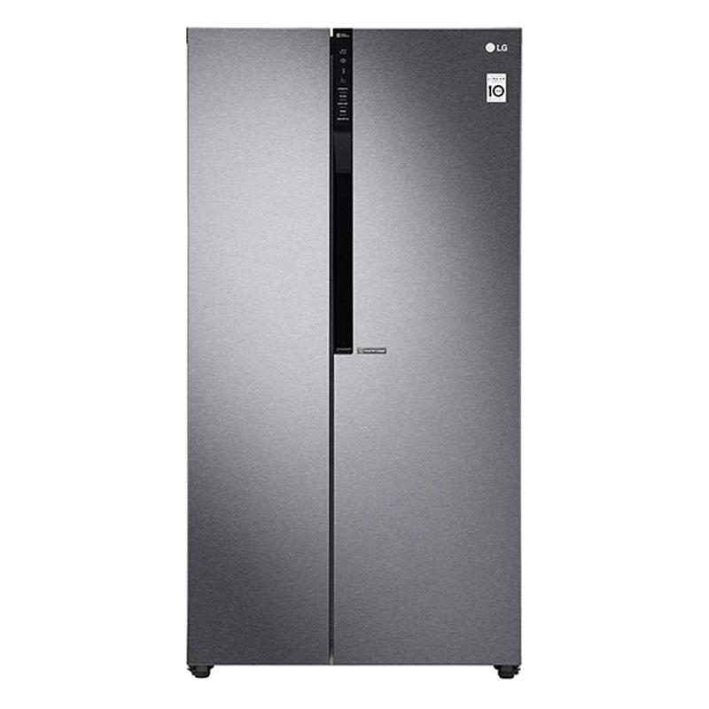 LG 679 L Frost Free Side-by-Side Refrigerator, Inverter Compressor(GC-B247KQDV.ADSQEBN, Dazzle steel)_1