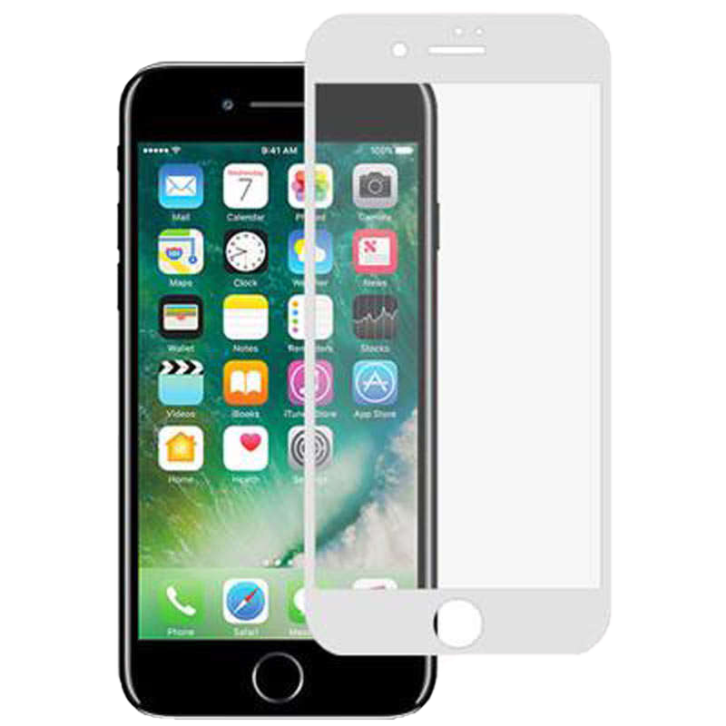Stuffcool Mighty 3D Tempered Glass Screen Protector for Apple iPhone 7 Plus (MGGP3DIP7PLUS, White)_1
