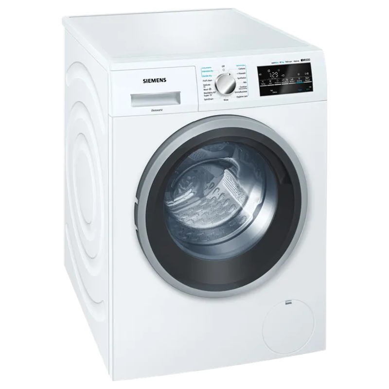 Siemens iQ500 8 kg/5 kg Fully Automatic Front Load Washer Dryer Combo (Anti-Vibration Side Panels, WD15G460IN, White)_1