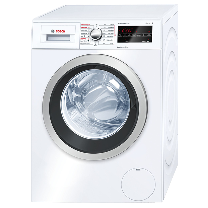 Bosch Serie 6 8 kg/5 kg Fully Automatic Front Load Washer Dryer Combo (In-built Heater, WVG30460IN, White)_1
