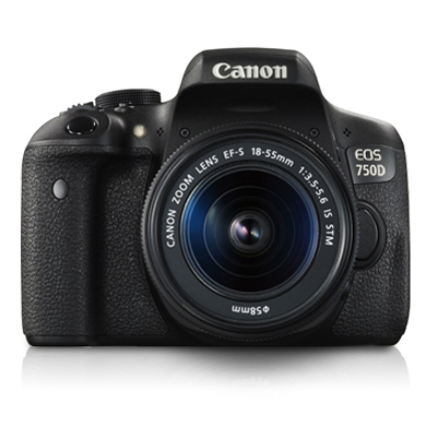 Canon 24.2 MP DSLR Camera Body with 18 - 55 mm Lens (EOS 750D, Black)_1