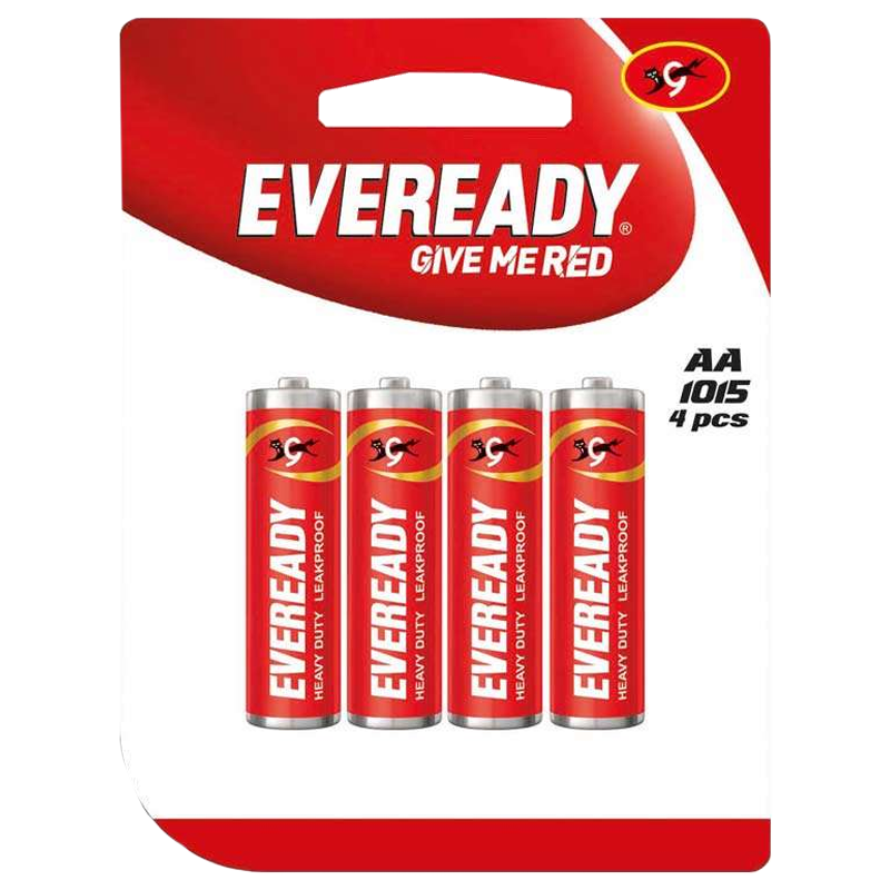 Eveready AA Heavy Duty Carbon Zinc Battery (1015U400800, Red) (Pack of 4)_1