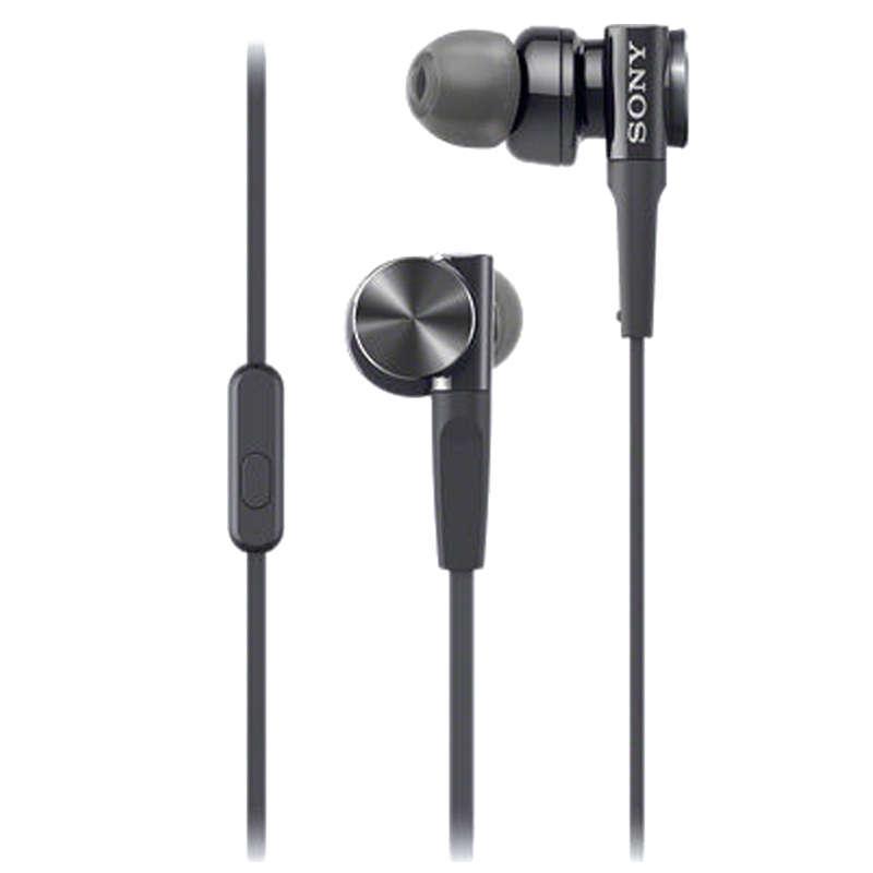 Sony In-Ear Wired Earphones with Mic (MDR-XB75AP, Black)_2