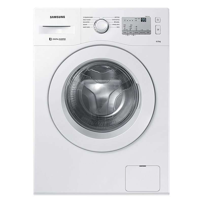 Samsung 6 kg Fully Automatic Front Loading Washing Machine (WW60M206LMA/TL, White)_1