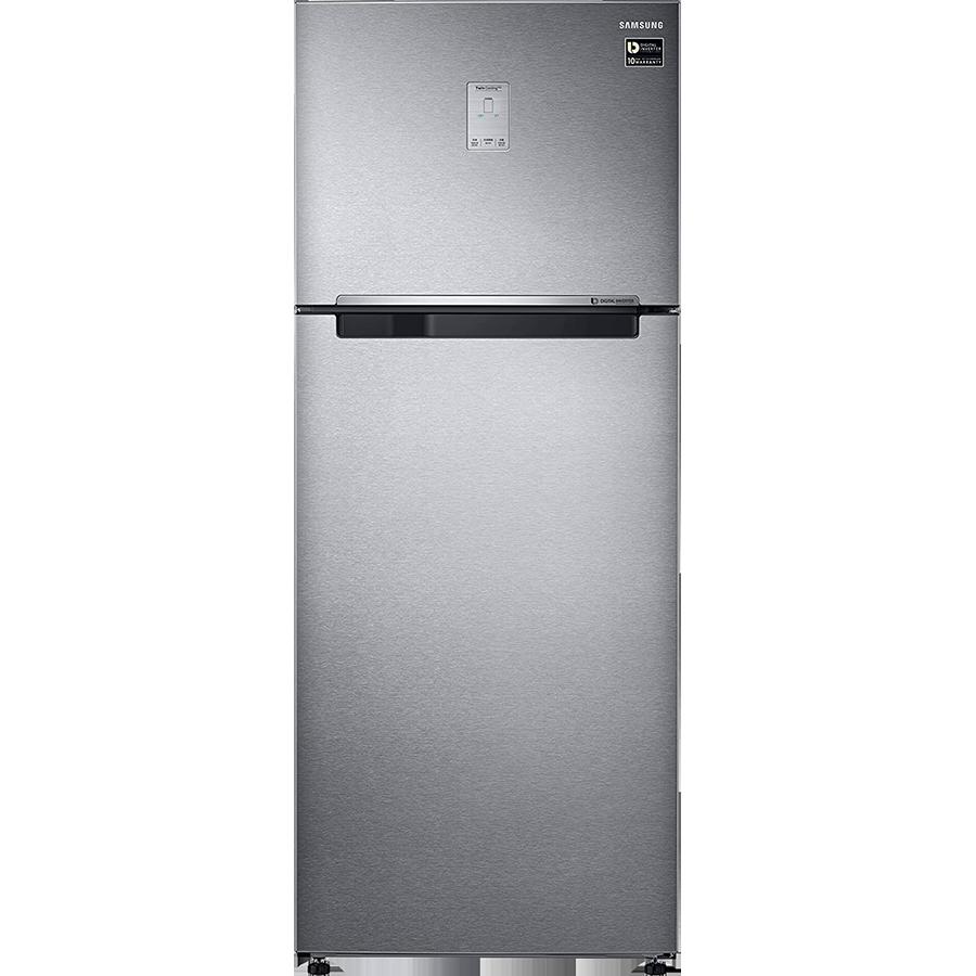 Samsung 465 L 3 Star Frost Free Double Door Inverter Refrigerator (RT47M623ESL/TL, EZ Clean Steel)_1