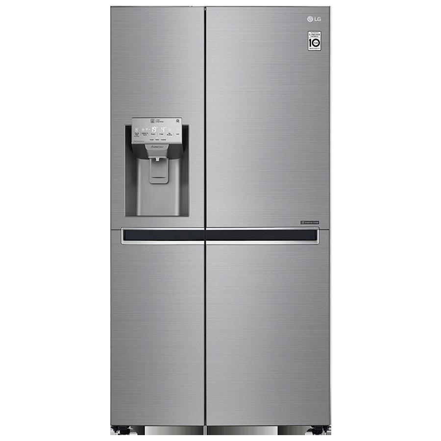 LG 668 L Frost Free Side-by-Side Refrigerator, Inverter Compressor(GC-L247CLAV.APZQEBN, Shiny Steel)