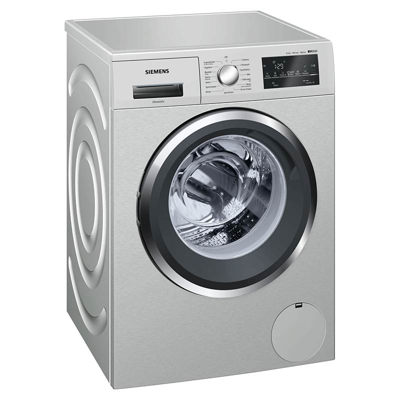 Siemens 8 kg Fully Automatic Front Loading Washing Machine (WM14T469IN, Silver)_1