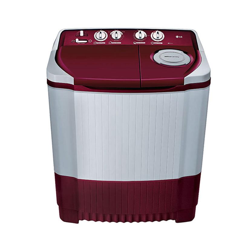 LG 7 kg Semi Automatic Top Loading Washing Machine (P8073R3FA, Burgundy)_1