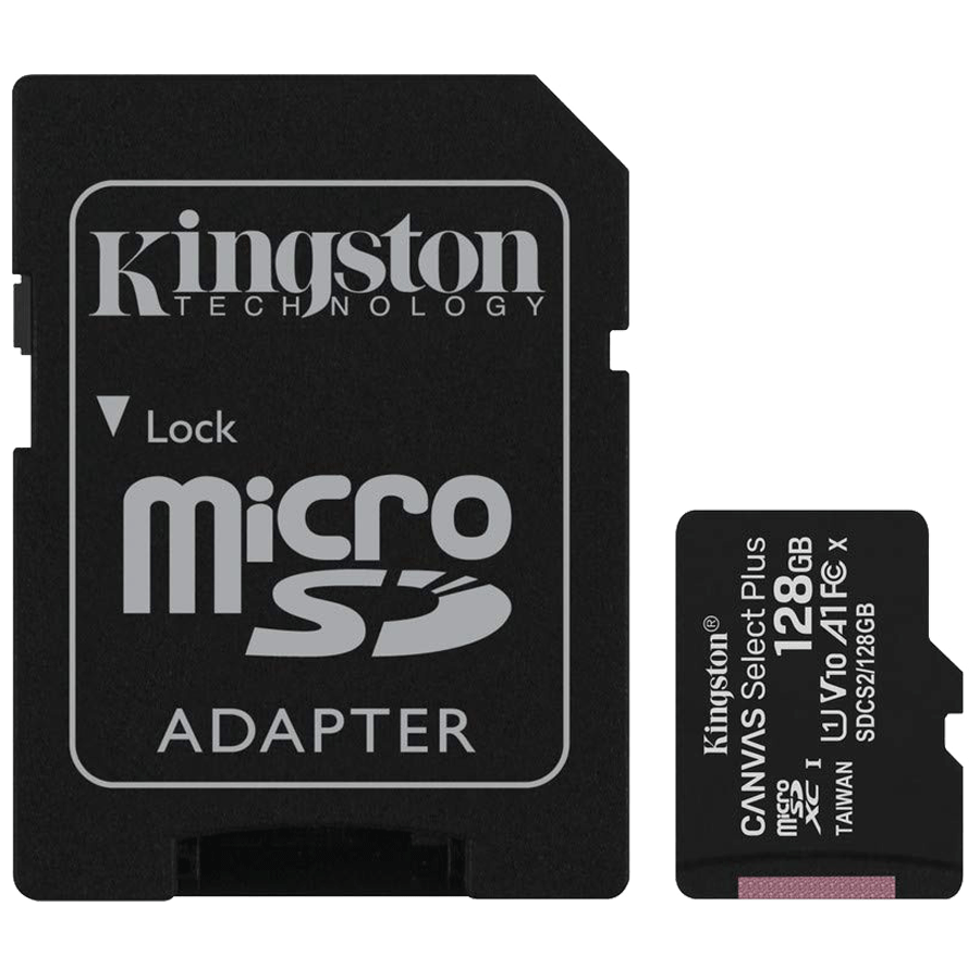 Kingston Canvas Select Plus 128 GB microSD Card with Adapter (SDCS2/128GBIN, Black)_1