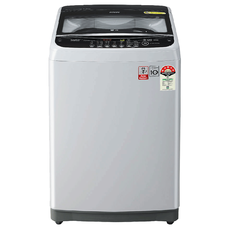 LG 7 Kg 5 Star Fully Automatic Top Loading Washing Machine (T70SJSF3Z.ASFQEIL, Middle Free Silver)_1